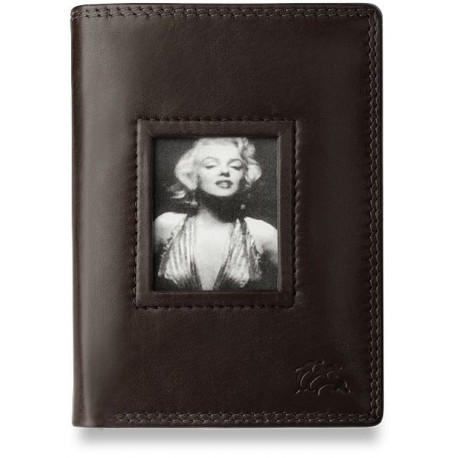 Marilyn monroe elegancki portfel damski skóra - brązowy