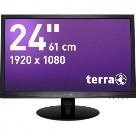 Monitor Terra Led 2412W Czarny Dvi Greenline Plus