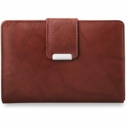 Poręczny damski portfel portmonetka - brązowy