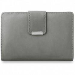 Poręczny damski portfel portmonetka - szary