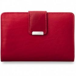 Poręczny damski portfel portmonetka - czerwona