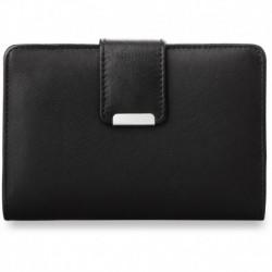 Poręczny damski portfel portmonetka - czarna