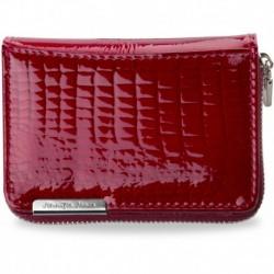 Lakierowany zgrabny portfel jennifer jones - czerwony