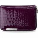 Lakierowany zgrabny portfel jennifer jones - fioletowy