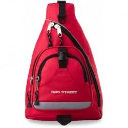 Sportowy plecak na 1 ramię bag street - czerwony