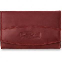 Damski portfel money maker- niemiecki- 100% skóra - czerwony