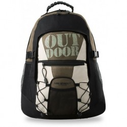 Modny funkcjonalny plecak bag street do szkoły - khaki