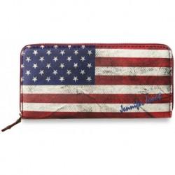 Oryginalny portfel damski z flagą amerykańską