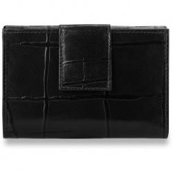 Wyjątkowy portfel damski z tłoczeniami - czarny