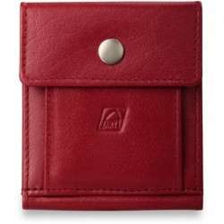 Uniwersalny portfel skórzany - czerwony
