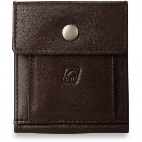 Uniwersalny portfel skórzany - brązowy