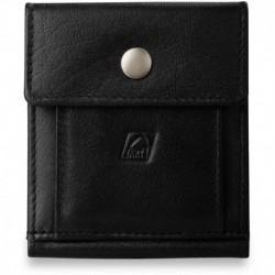 Uniwersalny portfel skórzany - czarny