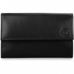 Duży elegancki damski portfel skóra a-art - czarny