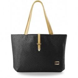 Oryginalny shopper bag - czarna z granatowym wzorem