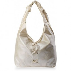 Okazja torebka ,worek, plecionka - perłowy