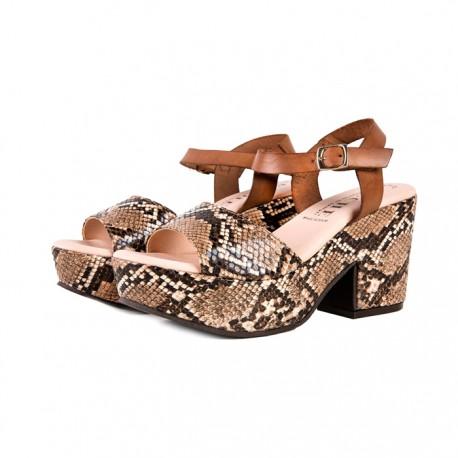 Sandały Mara – brązowy wąż