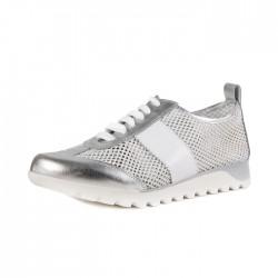 Sneakersy sportowe California - srebrno białe