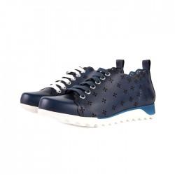 Sneakersy sportowe Marino - granatowe, drapowane