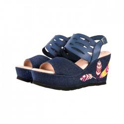 Sandały Chus - granatowy jeans